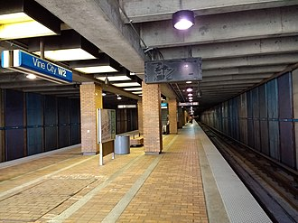 Vine City station - Image: Vine City MARTA station in March 2017