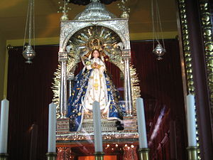 Patronages of the Immaculate Conception - In 1562, Don Lorenzo Ahumada, a brother of Saint Teresa of Avila, brought to Nicaragua this statue of the Immaculate Conception of El Viejo, which was granted a Canonical coronation by Pope John Paul II, now venerated as Patroness of the Nicaraguan people