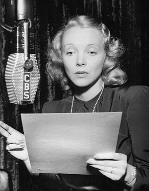 Virginia Bruce - Photographed for CBS Radio, 1948