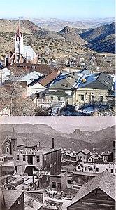 Virginia City, NV rephoto early 1870s + 2007