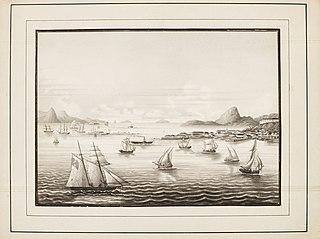Vista da Cidade de S. Sebastião tirada da Ilha das Cobras
