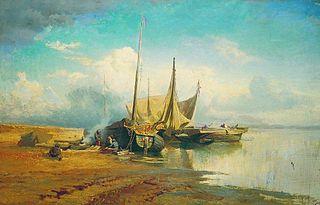 Barges sur la Volga