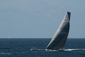 Telefónica (yacht) - Telefónica during the 2011–12 Volvo Ocean Race.