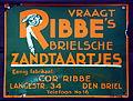Vraagt RIBBEs Brielsche Zandtaartjes emaille reklamebord 3.JPG