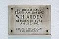 W.H.AUDEN Gedenktafel, Vienna 1.,Walfischgasse 5.jpg