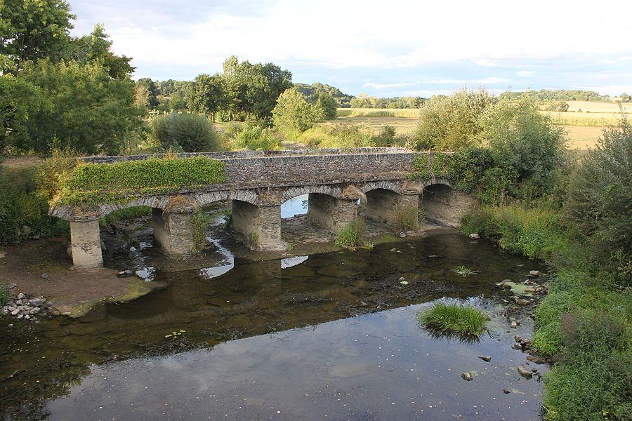 Vieux pont sur l'Oudon, Fr-49-Nyoiseau.