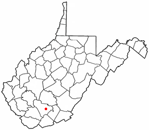 Beaver, West Virginia - Image: WV Map doton Beaver