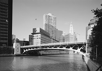 Wabash Avenue Bridge - Wabash Avenue Bridge summer 1999 in a photo from the National Park Service