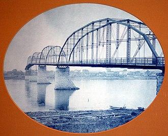 Clinton, Iowa - Wagon Bridge, 1891