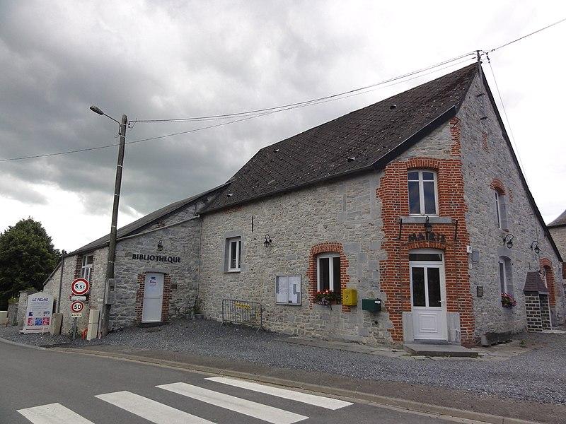 Wallers-en-Fagne (Nord, Fr) mairie et bibliothèque
