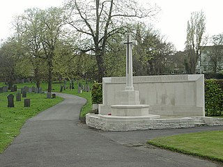 War Memorial And Three Headstones At East Entrance To General Cemetery