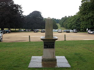508th Infantry Regiment (United States) - Memorial to fallen members of the 508th Parachute Infantry Regiment in Wollaton Park, Nottingham, England, where the regiment was based in 1944–1945.