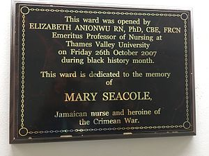 Mary Seacole - Ward named after Mary Seacole in Whittington Hospital in North London