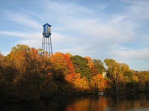 English: The old water tower in Grand Ledge, M...