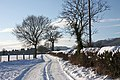 Watery Lane in the snow - geograph.org.uk - 1656925.jpg