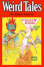 Weird Tales cover image for April 1929