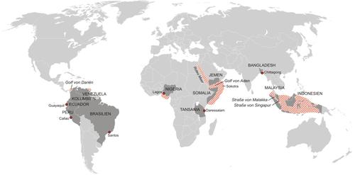 Weltweite Piraterie