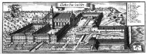 Fürstenfeld Abbey - Fürstenfeld Abbey: engraving by Michael Wening in Topographia Bavariae, about 1700
