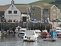 West Bay, harbour and church - geograph.org.uk - 550703.jpg