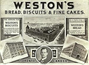"George Weston Limited - Weston's advertisement, ""Bread, Biscuits and Fine Cakes"", The Globe, Toronto, 1911"