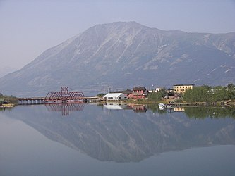 White Pass and Yukon Route bridge in Carcross, Yukon 2.jpg