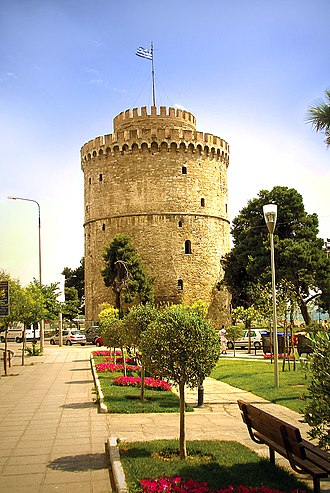 History of the Jews in Greece - The White Tower of Thessaloniki, marking the southeastern edge of Jewish quarter of Thessaloniki, the Mother of Israel.