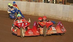 Sidecar speedway - Contact occurs often and is always controversial in sidecar speedway.