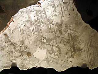 Kamacite An alloy of iron and nickel found in meteorites