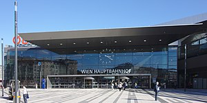 Wien Hauptbahnhof - The northern entrance to the station concourse
