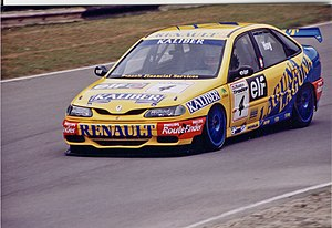 Will Hoy - Hoy driving for Renault in the 1996 British Touring Car Championship.