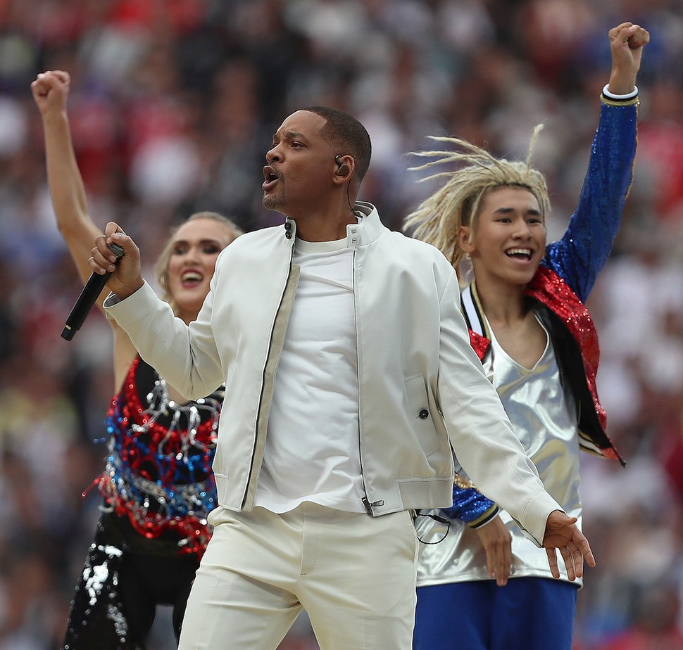 Will Smith at the close of the 2018 Soccer World Cup