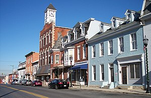 Williamsport, Maryland - Conococheague Street in Williamsport in 2007