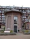 foto van Pompstation Gemeentewaterleidingen Amsterdam: octogonaal windketelgebouw (expansiehuis)