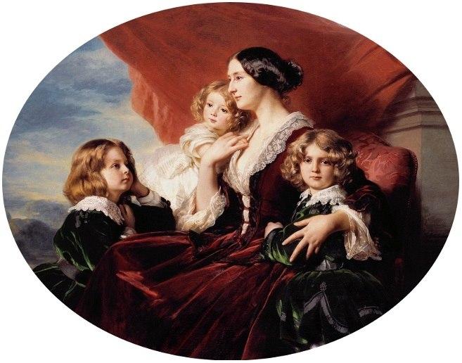 Winterhalter Eliza Krasińska with children