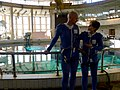 With Alex, just before our first training run in the Orlan suit (8641807797).jpg