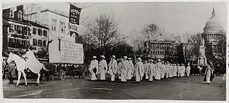 Woman suffrage parade of 1913 - Head of the Woman Suffrage Procession with herald Inez Milholland at the front.