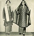 Women from Palembang in Ikat weave, Wanita di Indonesia p29 (Ministry of Information).jpg