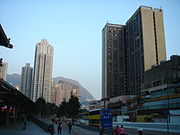 Lung Cheung Road, Wong Tai Sin, outside the Wong Tai Sin MTR Station.