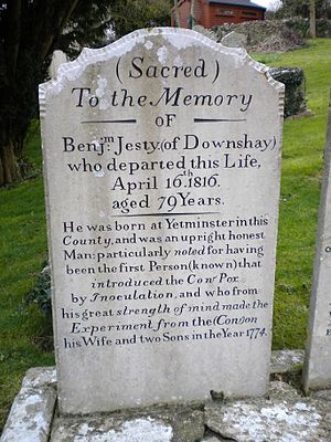 Worth Matravers - The tomb of Benjamin Jesty
