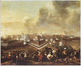 De bestorming van Coevorden op 30 december 1672, geschilderd door Pieter  Wouwerman