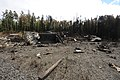 Wreckage of a 3rd Wing C-17 Globemaster III that crashed about 6-14 p.m. (Alaska time) July 28, 2010.jpg