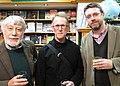 Writers Michael Harlow, David Howard, and Liam McIlvanney in Dunedin, New Zealand, April 2014.jpg