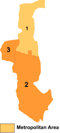Wuda is the division labeled '3' on this map of Wuhai City