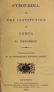 <i>Cyropaedia</i> literary work