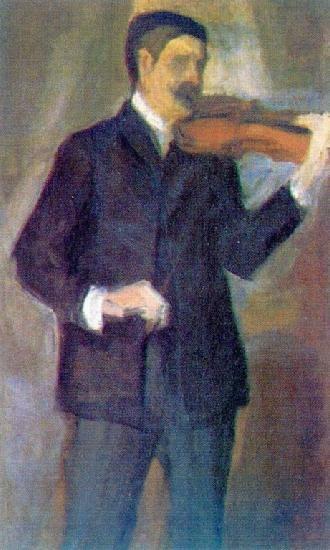 Mikhail Matyushin - Portrait by Elena Guro, 1910