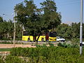 Yellow Bus for an Organization - Road 44 east of Iran - near Simorgh Culture house - Nishapur 8.JPG
