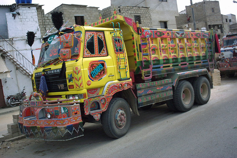 File:Yellow Pakistani Construction Truck.jpg