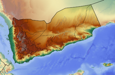 Location map Yemen
