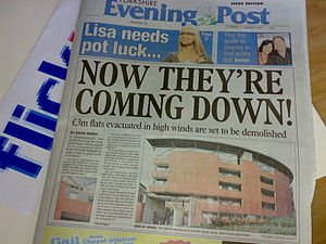 The Yorkshire Evening Post, an evening tabloid...