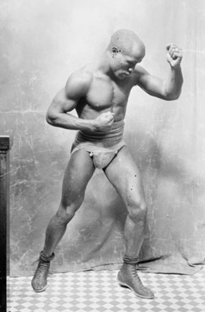 Young Peter Jackson (boxer born 1877) - Jackson in fighting pose